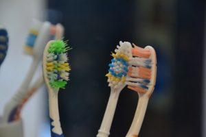 worn down toothbrush